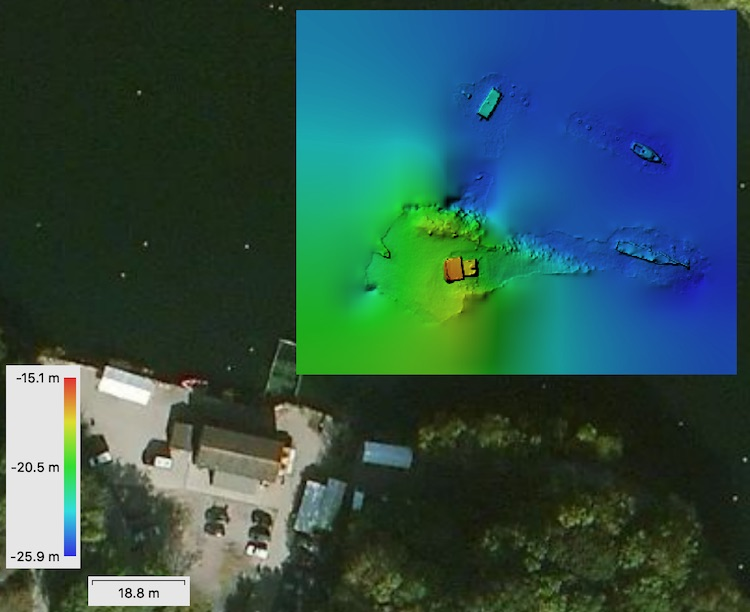 DEM and satellite view of Vobster Quay