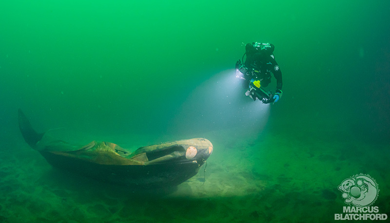 Conditions in Vobster on the day were ideal for underwater photogrammetry. Image courtesy Marcus Blatchford