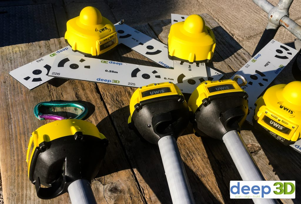 UWIS buoys and tracker units with Deep3D control points