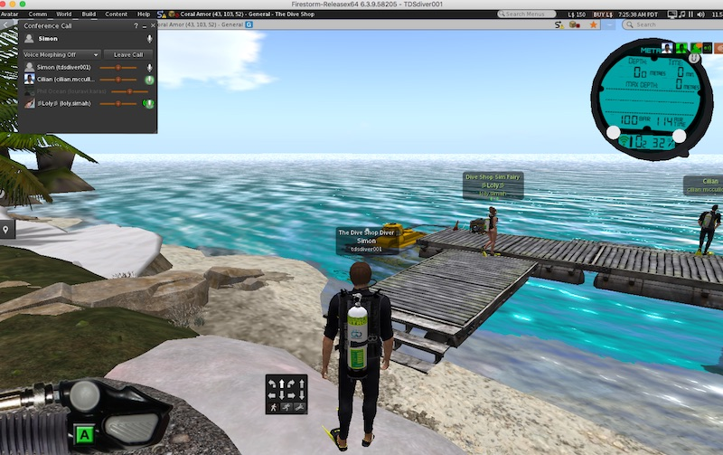 Second life walking in fins